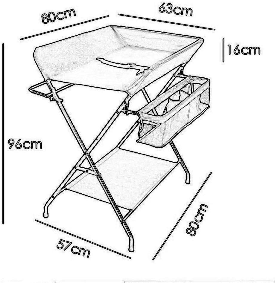 折りたたみおむつテーブル交換ドレッサー看護ステーション保育園オーガナイザー、防水サポートプレート-カーキ色