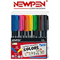 Caneta Hidrográfica Colore Newpen - Kit Com 12 Cores