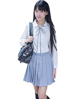 9c0171c5b558 YUANMO Summer Dresses for Women Sailor Suit Cute Schoolgirl Outfit Cosplay  Student JK Uniform Costume Set