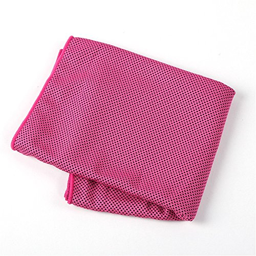 - BWAM-oud Microfiber Sports Towel Sports Towel Outdoor Fitness Sweat Cooling Feeling Towel Travel Accessories for Yoga Golf Travel Gym (Color : Pink)