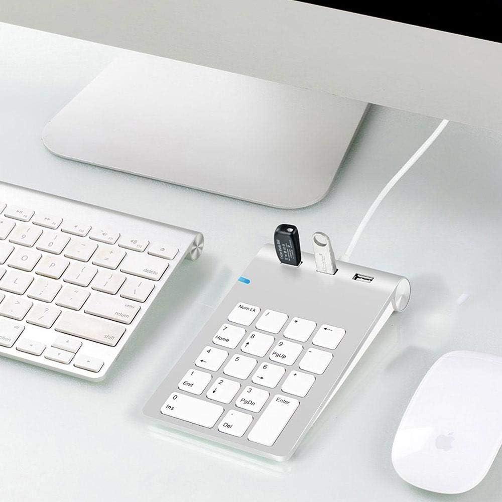 Silver Grey Digital Keyboard Wired Keypad Financial Cash Register with Keypad Multi-Function USB Socket Slim Fashion