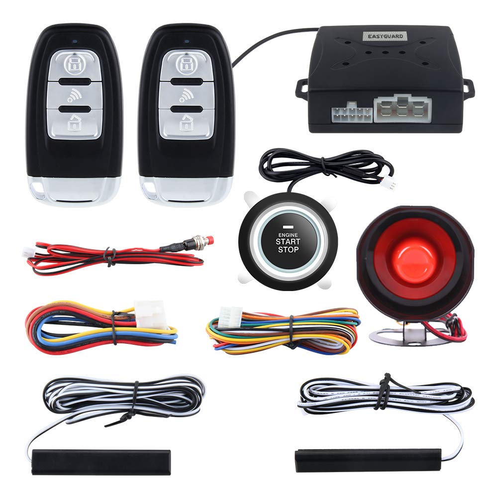 Easyguard Ec003 Smart Key Pke Passive Keyless Entry Car Viper Alarm Wiring Diagram 03 Dodge Ram 1500 System Engine Start Button Remote Universal Version Electronics