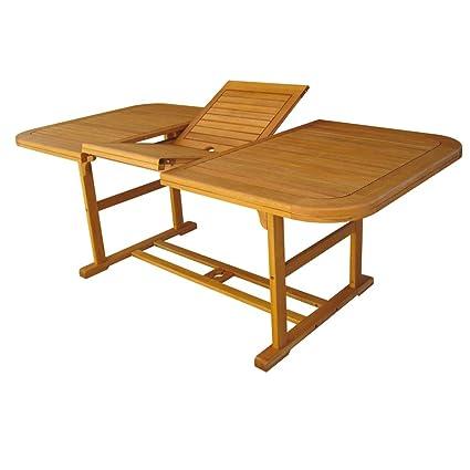 Mesa madera acacia extensible 150/200 x 90 cm Muebles exterior ...