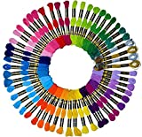 Embroidery Floss 54 skeins Crossstitch Floss - Crafts Floss - Bracelets String - Crafts Floss - 50Pcs Premium Rainbow Color Embroidery Thread and Free Set of 4pcs Metallic Floss LE PAON: more info