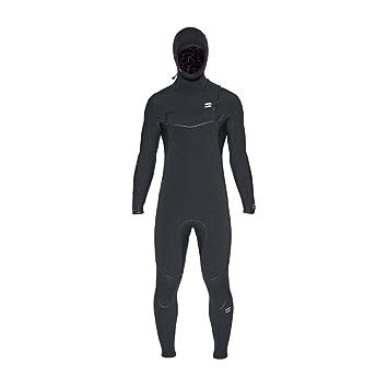 BILLABONG Mens Furnace Ultra 5/4mm Traje de Neopreno con Chest Zip Capucha Negro - Capas térmicas térmicas y Capas Forro del Furnace