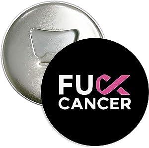Fuck Breast Cancer Refrigerator Magnets Beer Bottle Opener Coke Bottle Wine Soda Openers Kitchen Magnet for Home Decor Pocket Size