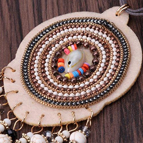 Dairyshop collana da donna La collana del pendente della nappa delle ragazze delle donne di modo borda le coperture Handcraft Accessory
