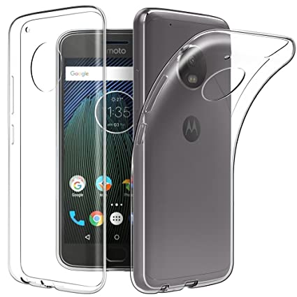 reputable site f7467 d59d9 LOFAD CASE Transparent Back Cover for Motorola Moto G5S Plus