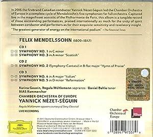 Mendelssohn: Symphonies 1-5 [3 CD]