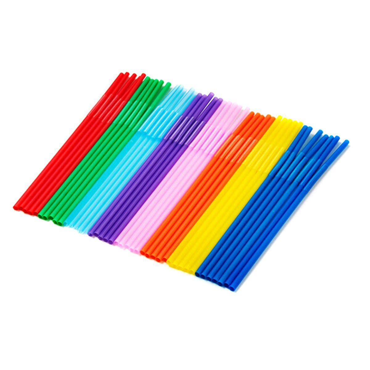 Happy Will Colorful Flexible Disposable Bendable Long Drinking Straws with Stylus 100