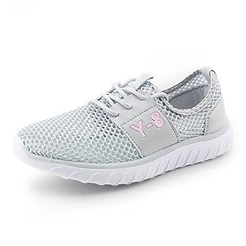 Zapatos de Mujer Tela Primavera Verano otoño Alpargatas Pisos Zapatos para Caminar tacón Plano con Cordones