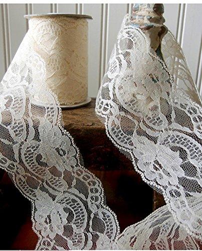 Lace Ribbon Ivory Wide yds product image