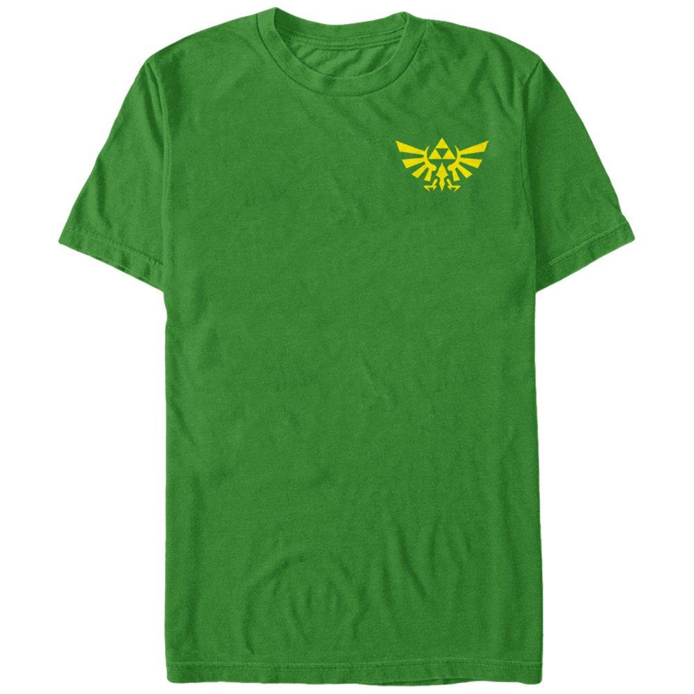bac51a64f Nintendo Men's Legend of Zelda Mini Triforce T-Shirt Kelly Green |  Amazon.com