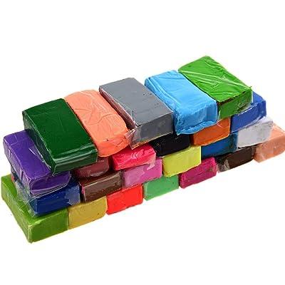 24pcs Color Mezclado Suave Arcilla del polímero Sculpey Horno de cocción de polímero Modellazone Bloques Horno-Bake Bloques de Arcilla de Arte DIY: Juguetes y juegos