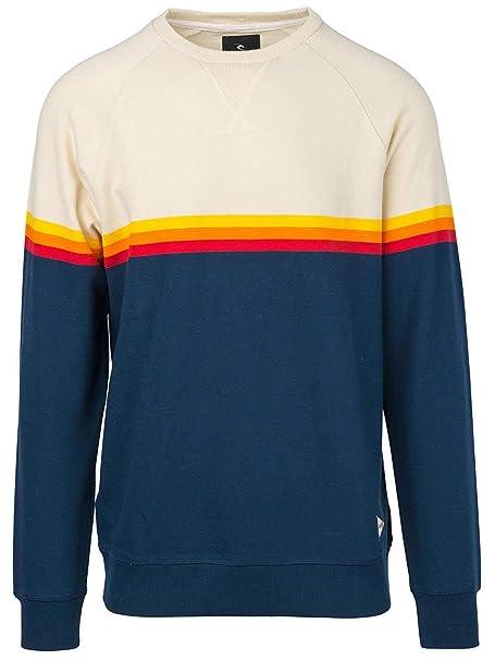 RIP CURL Boys Rainbow Stripe Crewneck Fleece Sweatshirt