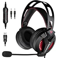 Combatwing Gaming Headset - Xbox One Headset PS4 Headset Compatible with PS4, PC, Xbox One Controller(Adapter Needed), Switch (Audio) Headset with Memory Protein Earmuffs and Adjustable Microphone