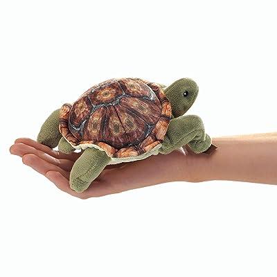 Folkmanis Mini Tortoise Finger Puppet: Toys & Games