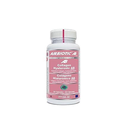Airbiotic AB - Colageno Hialuronico AB Complex, Multinutrientes para la piel, 30 cápsulas