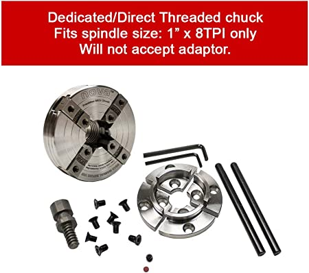 "Nova G3 Woodturning Scroll Chuck Package 1/"" x 8tpi Reversible Direct Threaded"