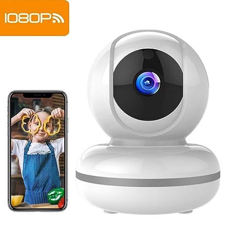Cámara de Vigilancia WiFi Mibao 1080P Cámara IP Inalámbrica, HD Visión Nocturna, Detección de