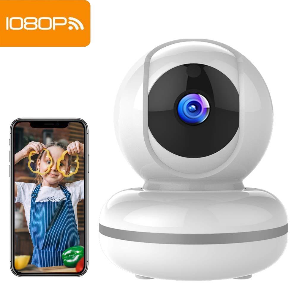 1080P Camaras De Vigilancia Wifi Interior Mibao Camara Vigilancia , HD Visión Nocturna, Detección de