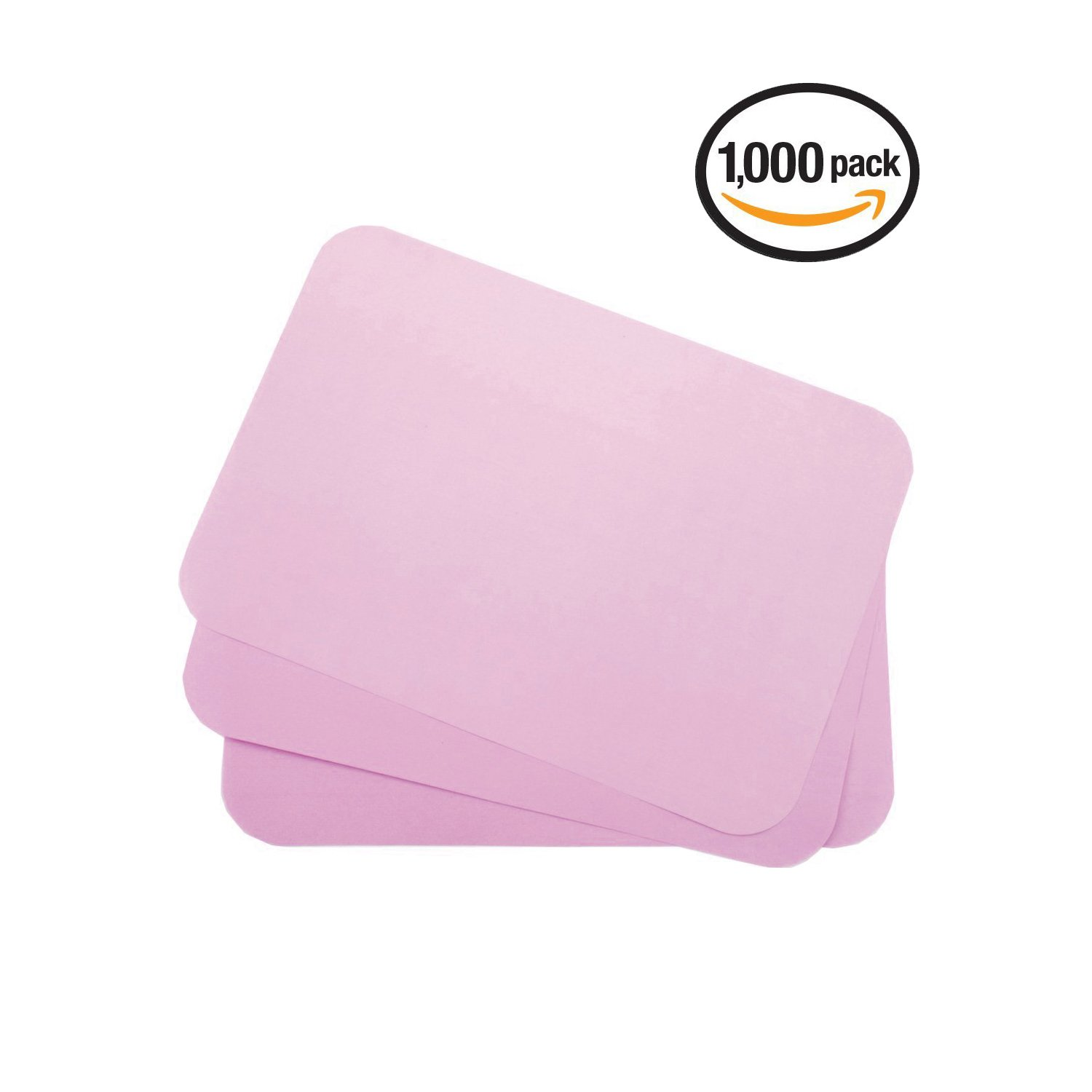 Dental Tray Covers Paper - Size B Tray 8.5''x12.25'' Premium Tray Paper Also Great for Beauty Tray, Pack of 1000, by Vivid (Pink)