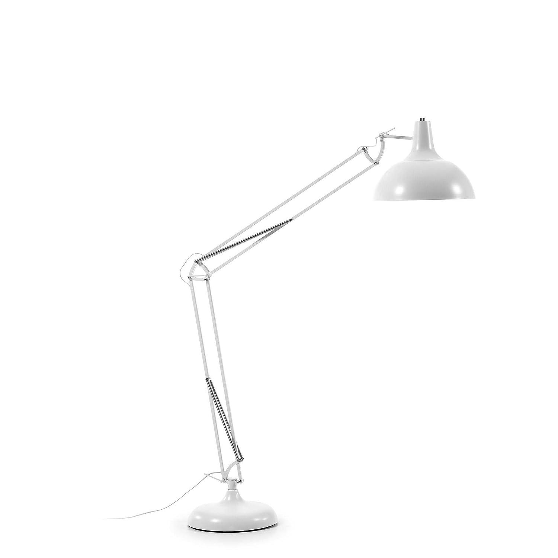 Kave Home Lámpara de pie Lima, blanco: Amazon.es: Hogar