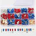 SOLOOP 300pcs Assorted Crimp Terminals Set Insulated Electrical Wire Connector Kit