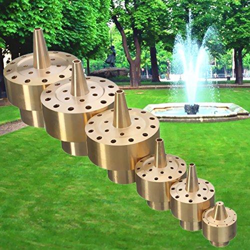 Brass Column Fireworks Water Fountain Nozzle Garden Pond Sprinkler Spray Head (1/2'') by Yosoo (Image #6)