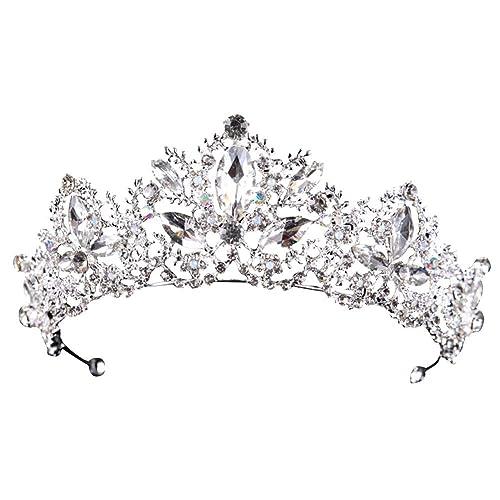 Corona d Epoca Corona Nuziale Perla Copricapo Corona di Strass Corona di  Perle per Principessa 7bbfe7f2a63f