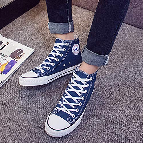 Blue LACE 5 Padgene Low Size Heel TOP 7 Wedge 5 Shoes 6 Plus UK Girls' Size Sneakers Trainers 4 3 UP 8 2 Sports Pumps 9 Canvas Ladies wqYRprxq8