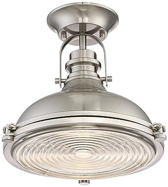 Verndale 11 34w brushed nickel industrial ceiling light amazon verndale 11 34quotw brushed nickel industrial ceiling light aloadofball Image collections