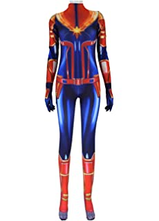 Amazon.com: Captain Marvel Disfraz de Carol Danvers Jumpsuit ...