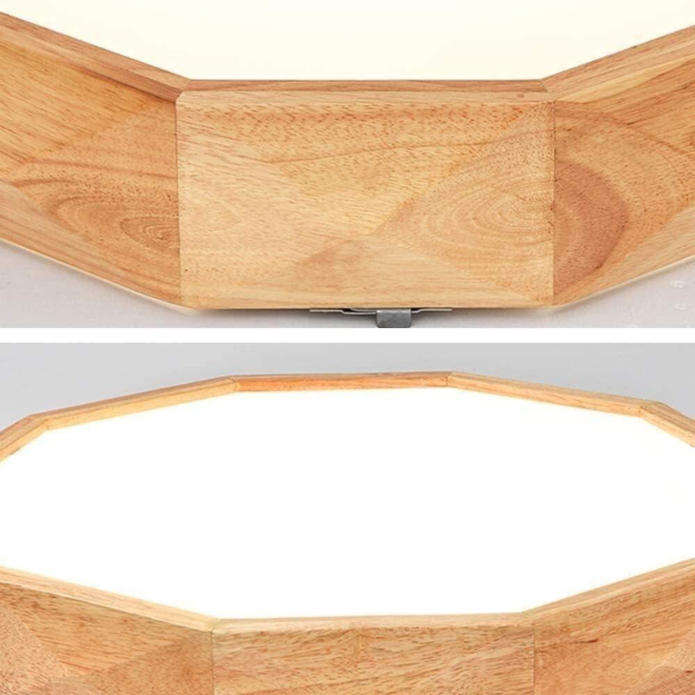 La semplicità elegante in legno del soffitto LED geometrica