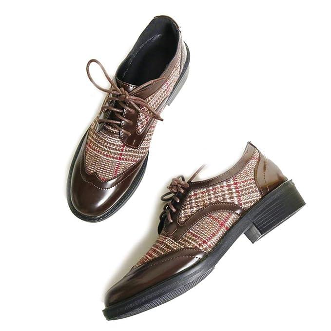 LITHAPP Mujer Mocasines Con Cordones De Las Mujeres Oxfords Zapatos Planos Sin Cordones: Amazon.es: Ropa y accesorios