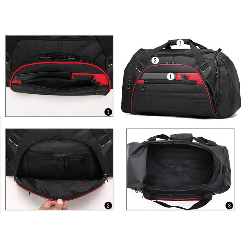 FHPJK 45L Large Multi-Function Sport Bag Men Women Fitness Gym Bag Waterproof Outdoor Travel Sports Tote Shoulder Bags