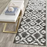 Cheap Safavieh Adirondack Collection ADR118R Charcoal and Ivory Modern Geometric Area Rug (2'6 x 4′)