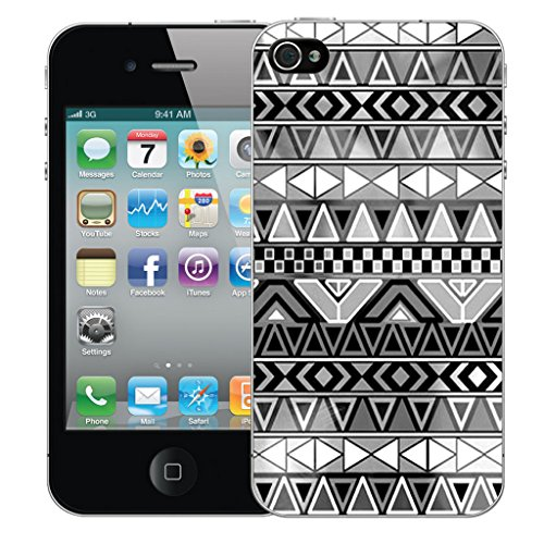 Mobile Case Mate iPhone 4s Silicone Coque couverture case cover Pare-chocs + STYLET - Geometric pattern (SILICON)