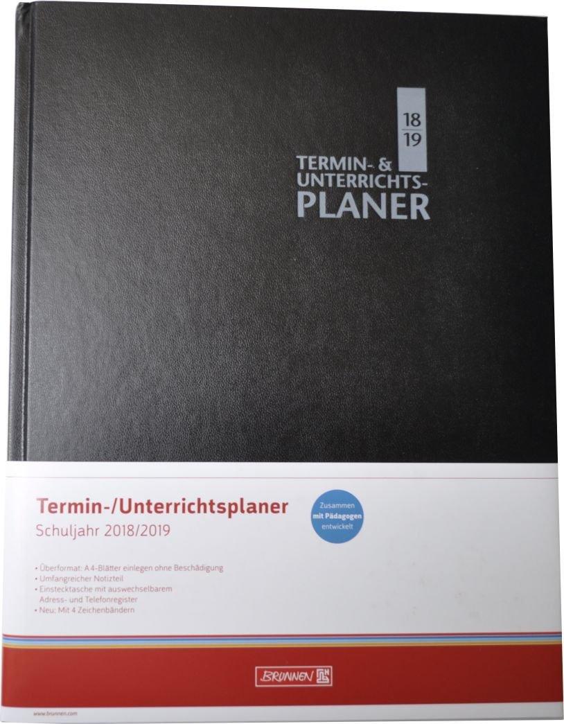 Brunnen 107299119 Termin und Unterrichtsplaner schwarz Buchkalender Taschenkalender Kalender / Buchkalender Kalender / Zeitplansysteme