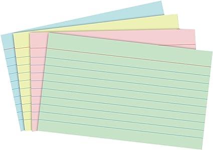 Tarjetas de cartulina NUOLUX Fichas para notas para la oficina de ...