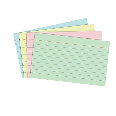 Tarjetas de cartulina NUOLUX Fichas para notas para la oficina de la escuela (Colorido)