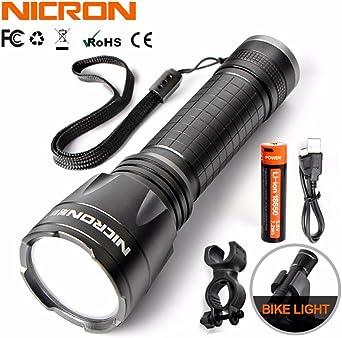 N5R-2 - Linterna LED recargable de 3 W con batería recargable USB ...