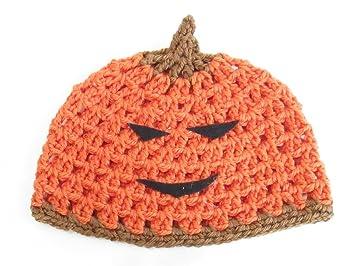 Amazon.com  Pumpkin Beanie Hat Cap  Baby 53a39d8507f0