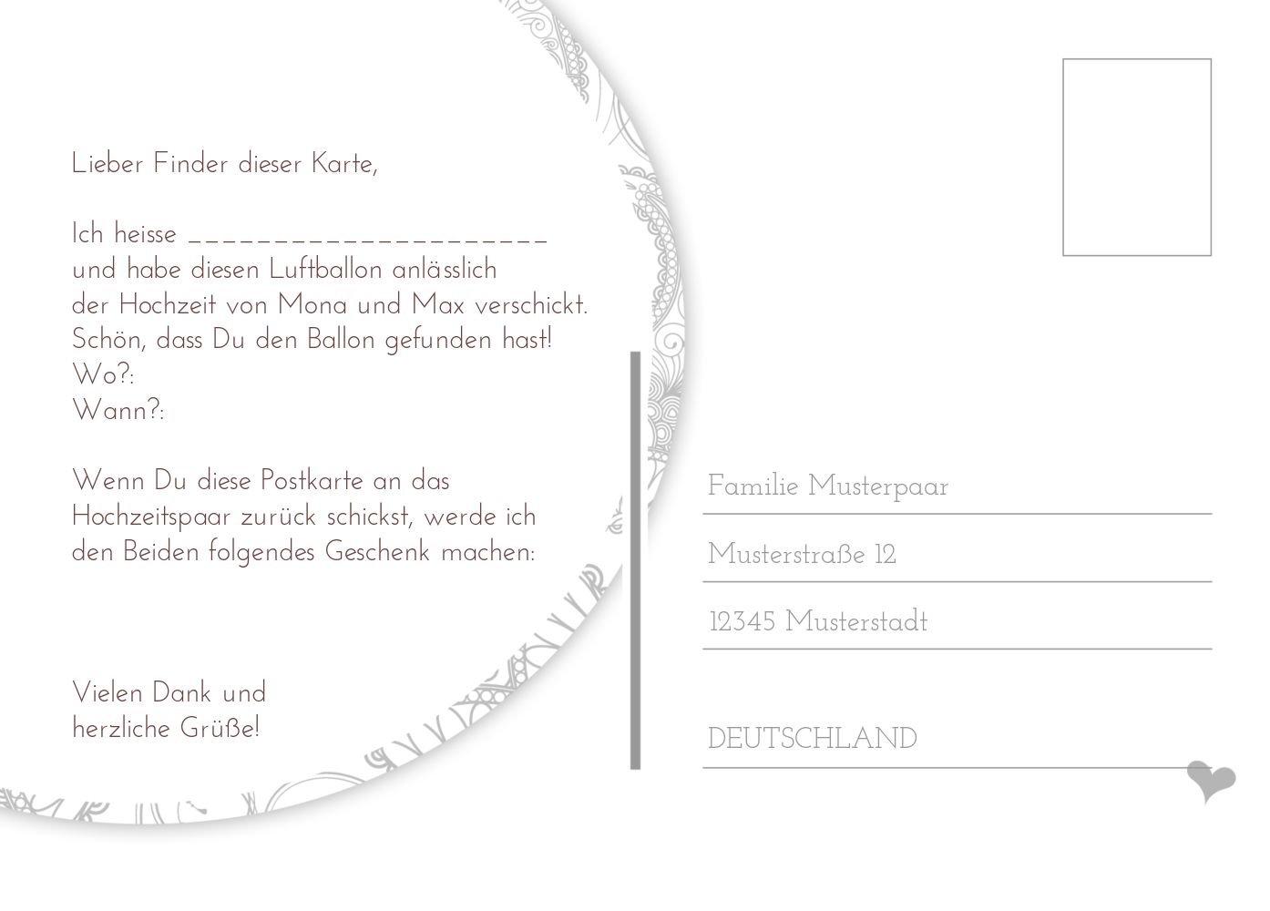 Ballonkarte Ballonkarte Ballonkarte Traumhochzeit, 80 Karten, Weiß B07CQG1KTZ | Erschwinglich  | Kaufen Sie online  | Angenehmes Gefühl  fb842c