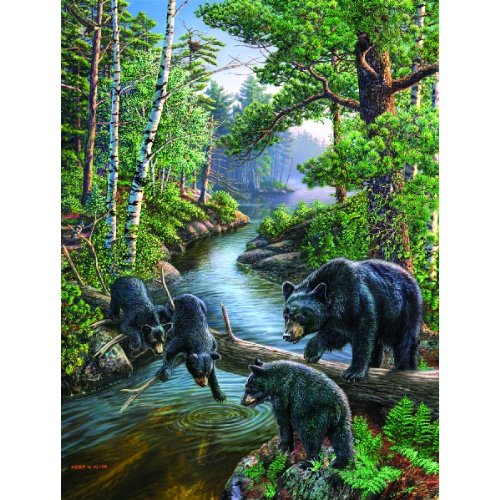 Bear Jigsaw - SunsOut Bear Pause 500 pc Jigsaw Puzzle