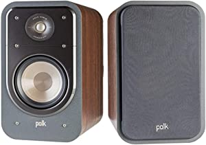 Polk Audio Signature Series S20 American Hi-Fi Home Theater Large Bookshelf Speakers - Pair (Classic Brown Walnut)