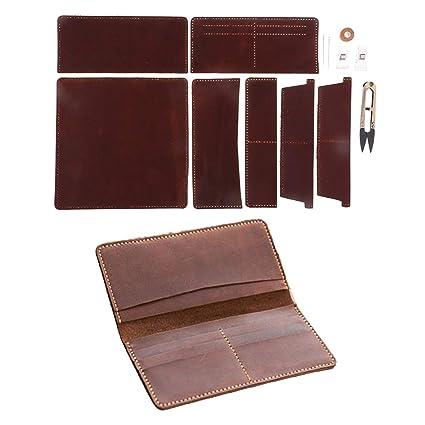 IPOTCH Cuero Monedero Material de Billeteras Costura ...
