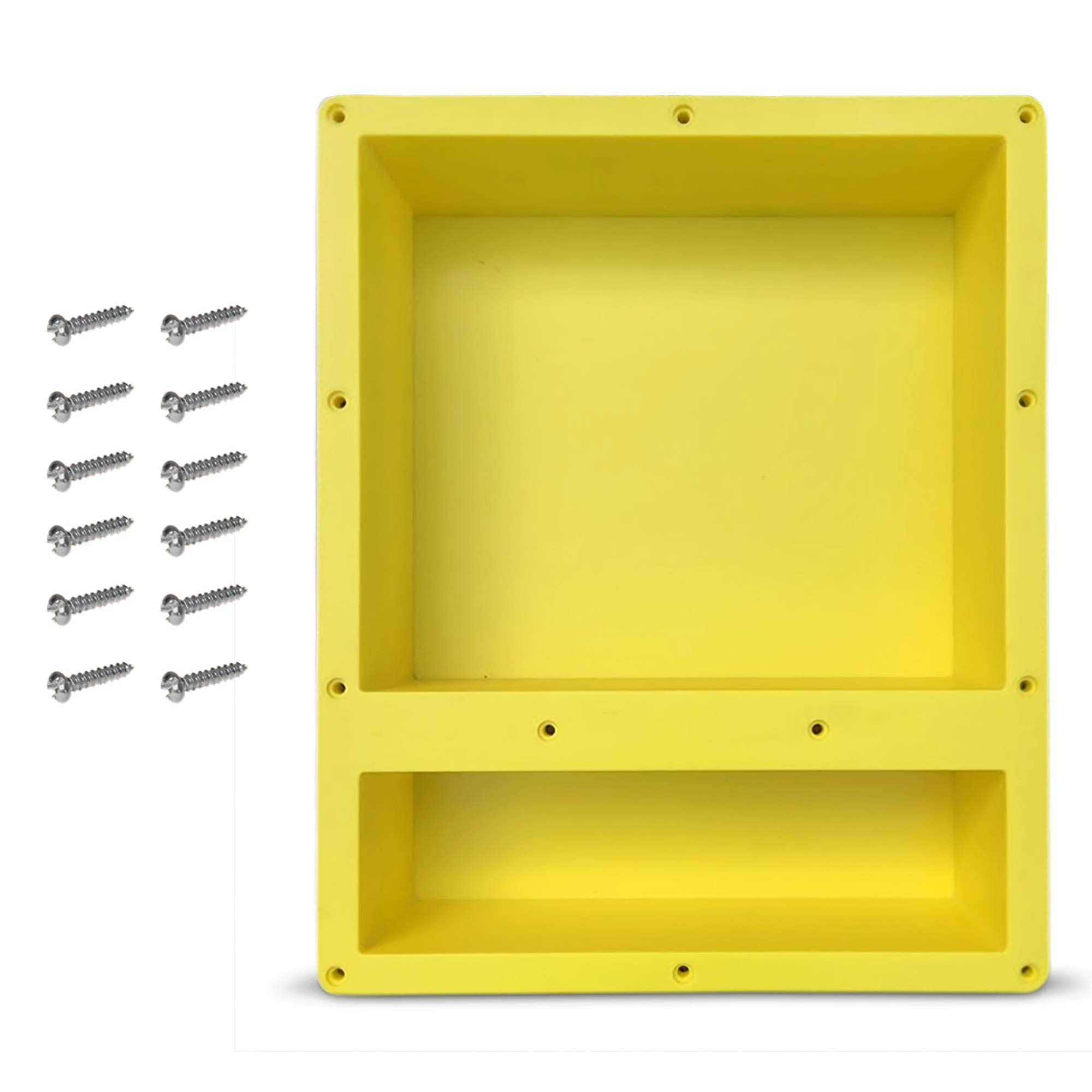 16'' x 20'' Double Shelf Recessed Shower Niche with Mounting Screws included, Mounts Flush with 1/2'' Backerboard, Ready to Tile, Easy to Install and Waterproof, by Novalinea