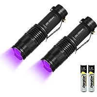Linterna LED UV, linterna de luz negra, detector ultravioleta, para billetes inexactos, orina de perros y otros animales…