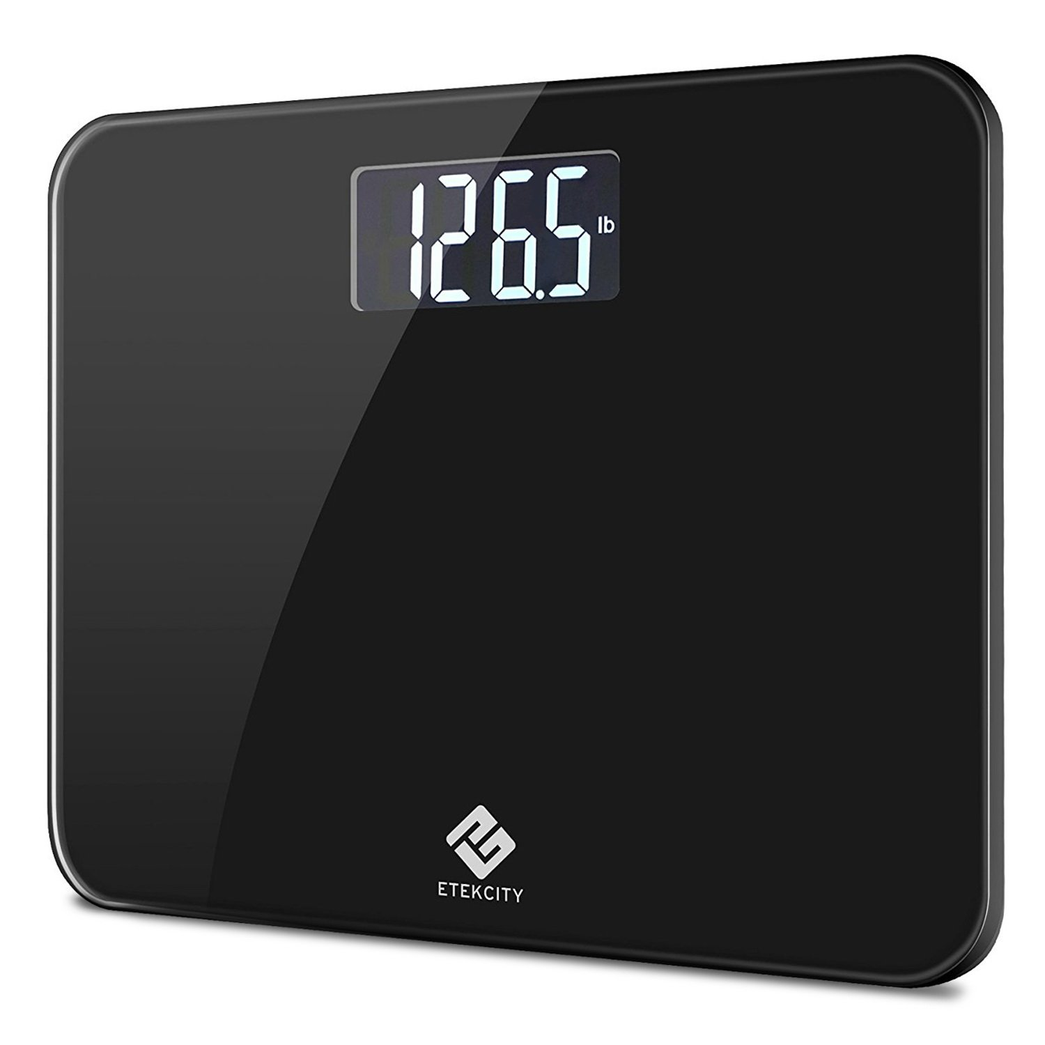 Etekcity Digital Body Weight Bathroom Scale with Step-On Technology, 440 Pounds, Body Tape Measure Included (Black) EB441OB by Etekcity (Image #1)